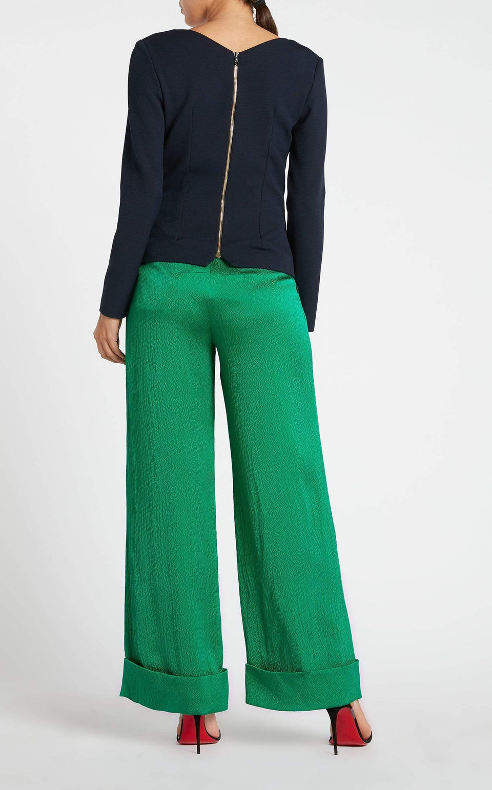 Perkins Trouser In Emerald from Roland Mouret