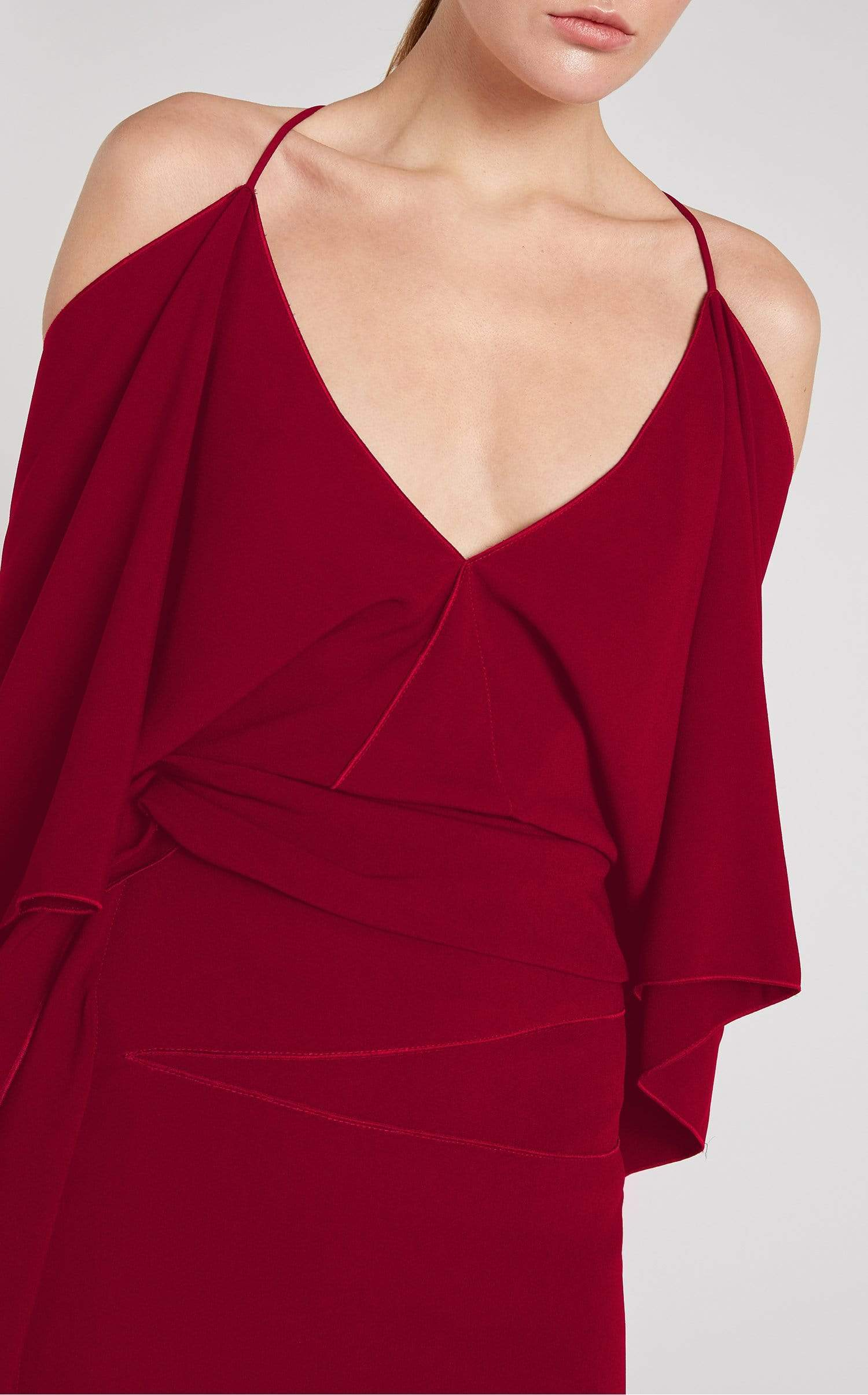 Vincent Dress In Ruby from Roland Mouret