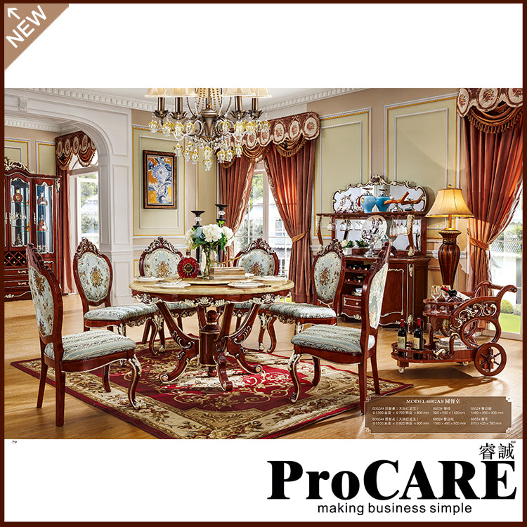 Good European Design Classic Royal Home Furniture Solid Wood Long Dining Room  Furniture Using Dining Table