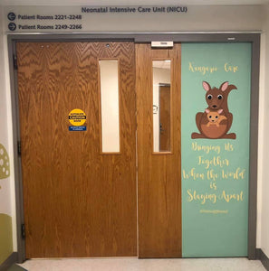 MUST SEE! CHOA's NICU door getting ready for Kangaroo Care Week!