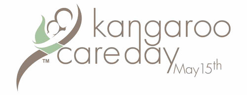 Eight (8) Rectangular Stickers Kangaroo Care Day Logo 3.75