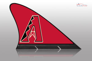 Arizona Diamondbacks Car Flag, CARFIN  Magnetic Car Flag.