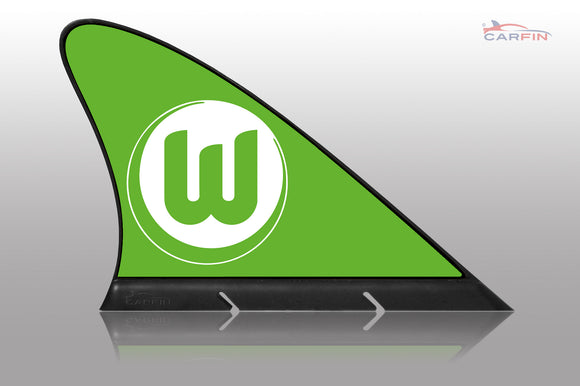 VfL Wolfsburg Car Flag, CARFIN  Magnetic Car Flag.