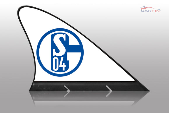 FC Schalke 04 Car Flag, CARFIN  Magnetic Car Flag.
