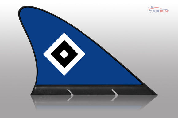 Hamburg HSV Car Flag, CARFIN  Magnetic Car Flag.