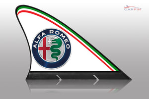 Alfa Romeo Car Flag CARFIN , Magnetic Car signs. - Carfin