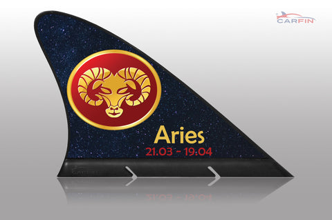 Aries Car Flag CARFIN, Magnetic Car signs. - Carfin