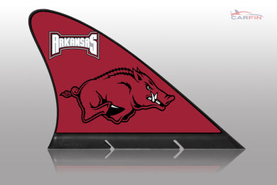Arkansas Razorbacks Car Flag, CARFIN  Magnetic Car Flag.