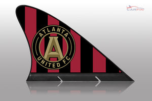 Atlanta United FC Car Flag, CARFIN  Magnetic Car Flag.