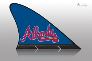 Atlanta Braves Car Flag, CARFIN  Magnetic Car Flag.