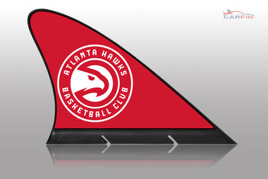 Atlanta Hawks Car Flag, CARFIN  Magnetic Car Flag.