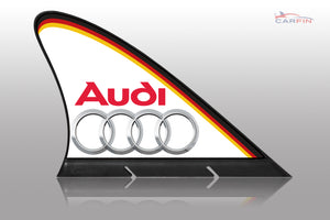 Audi Car Flag CARFIN , Magnetic Car signs.