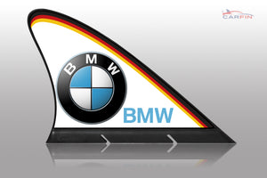 BMW Car Flag CARFIN , Magnetic Car signs.