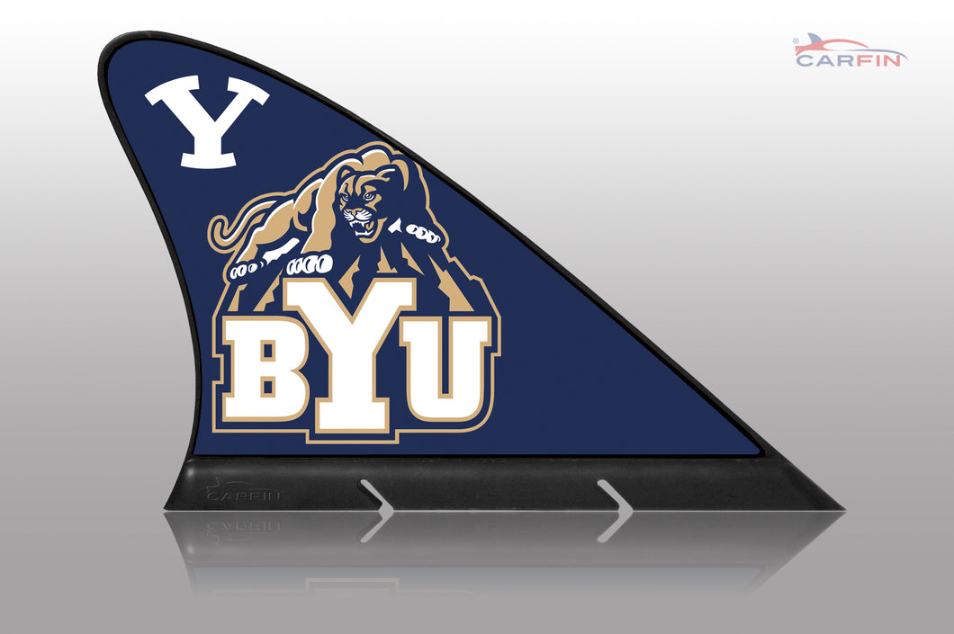 BYU Cougars  Car Flag, CARFIN  Magnetic Car Flag.