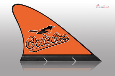 Baltimore Orioles Car Flag, CARFIN  Magnetic Car Flag.