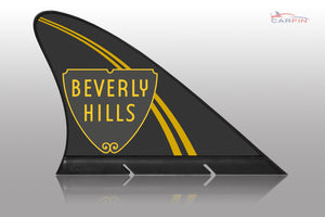 Beverly Hills Car Flag CARFIN , Magnetic Car signs. - Carfin