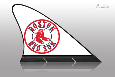 Boston Red Sox Car Flag, CARFIN  Magnetic Car Flag.