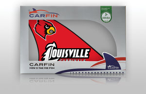 Louisville Cardinals Car Flag, CARFIN  Magnetic Car Flag.