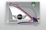 Mini Car Flag CARFIN , Magnetic Car signs. - Carfin