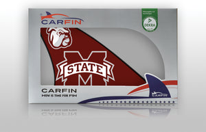 Mississippi State Bulldogs Car Flag, CARFIN  Magnetic Car Flag.