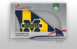 Michigan Wolverines Car Flag, CARFIN  Magnetic Car Flag.