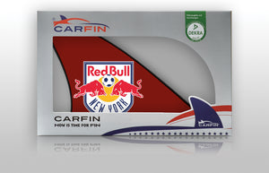 New York Red Bulls Car Flag, CARFIN  Magnetic Car Flag.