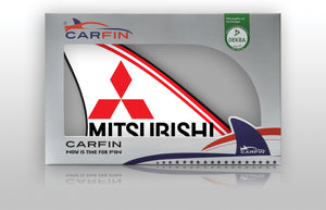 Mitsubishi  Car Flag CARFIN , Magnetic Car signs.