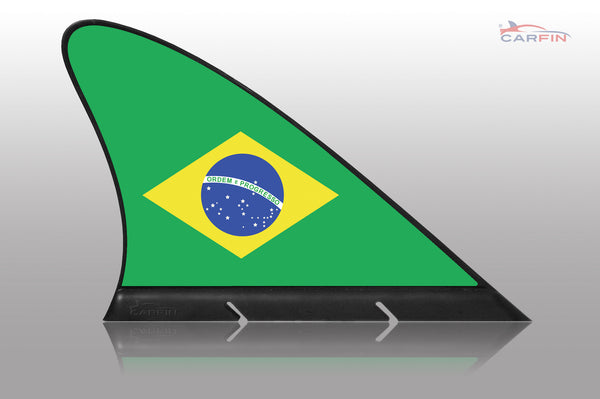 Brazil  Car Flag CARFIN , Magnetic Car flags and signs. - Carfin