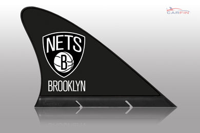 Brooklyn Nets Car Flag, CARFIN  Magnetic Car Flag.