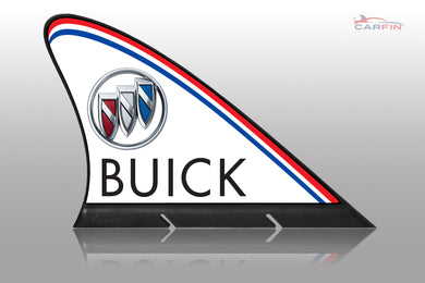 Buick Car Flag CARFIN , Magnetic Car signs.