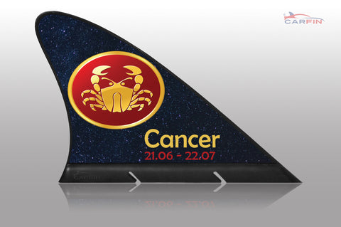 Cancer  Car Flag CARFIN , Magnetic Car signs. - Carfin