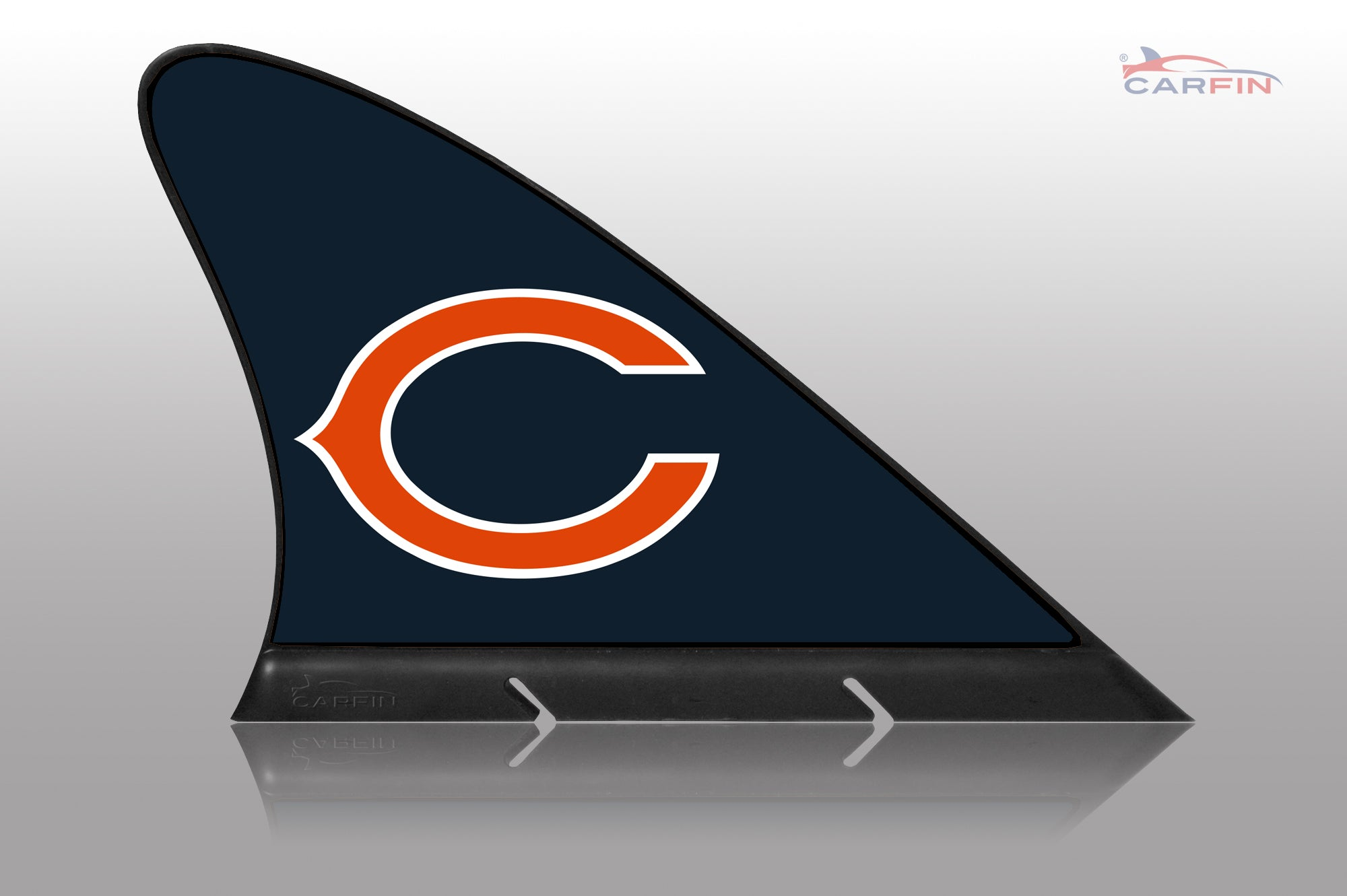 Chicago Bears Car Flag, CARFIN  Magnetic Car Flag.