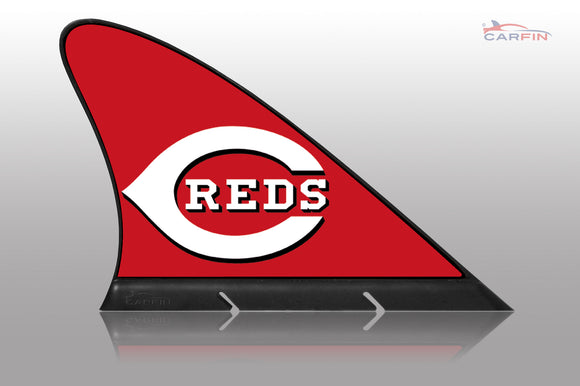 Cincinnati Reds Car Flag, CARFIN  Magnetic Car Flag. - Carfin