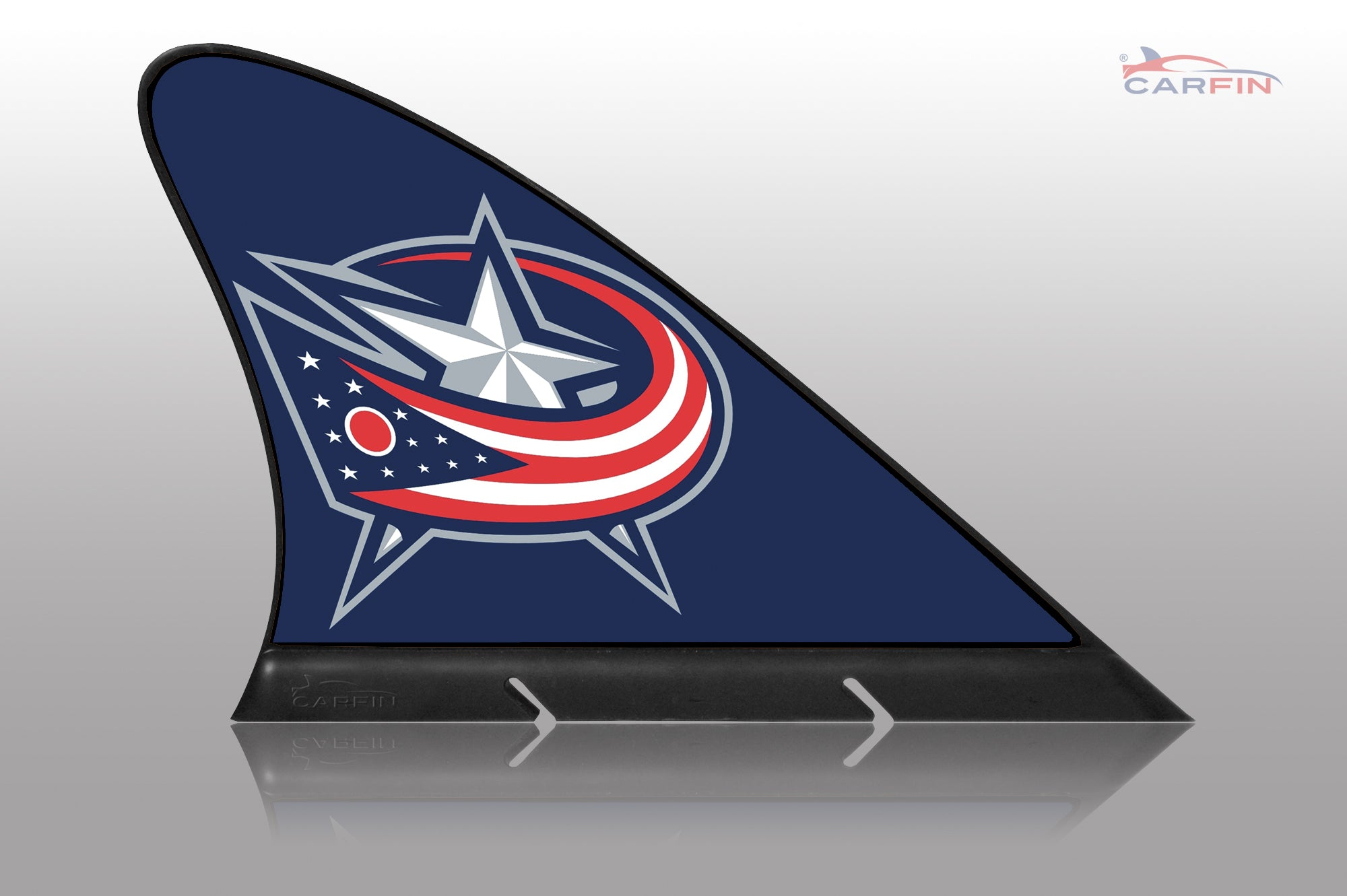 Columbus Blue Jackets Car Flag, CARFIN  Magnetic Car Flag. - Carfin