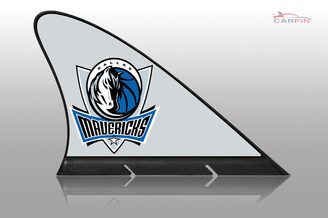 Dallas Mavericks Car Flag, CARFIN  Magnetic Car Flag.