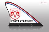 Dodge Car Flag CARFIN , Magnetic Car signs. - Carfin