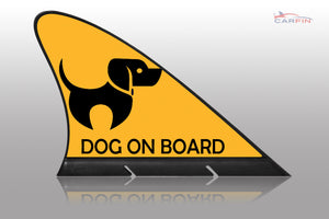 Car Flag Dog on Board , CARFIN Sign & Flag - Carfin