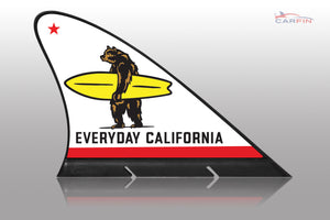 Everyday California Car Flag CARFIN , Magnetic Car signs. - Carfin