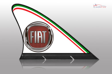 Fiat Car Flag CARFIN , Magnetic Car signs.