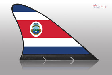 Costa Rica Car Flag CARFIN , Magnetic Car flags and signs. - Carfin