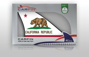 California Car Flag CARFIN , Magnetic Car signs. - Carfin