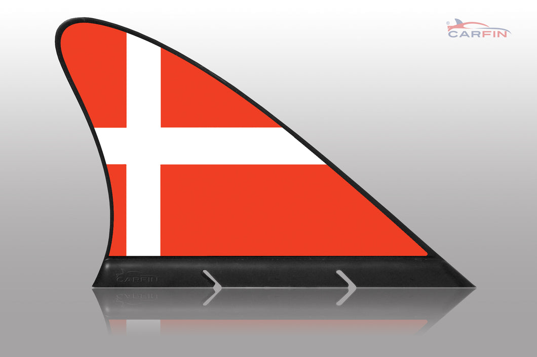 Denmark Car Flag CARFIN , Magnetic Car flags and signs. - Carfin
