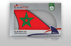 Morocco Car Flag CARFIN , Magnetic Car flags and signs. - Carfin