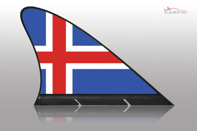 Iceland Car Flag CARFIN , Magnetic Car flags and signs. - Carfin