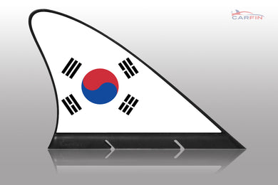 South Korea Car Flag CARFIN , Magnetic Car flags and signs. - Carfin