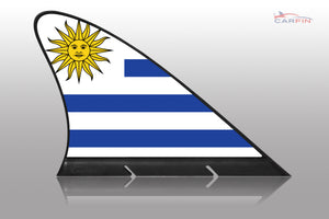 Uruguay Car Flag CARFIN , Magnetic Car flags and signs. - Carfin
