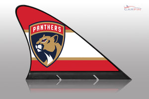 Florida Panthers Car Flag, CARFIN  Magnetic Car Flag.