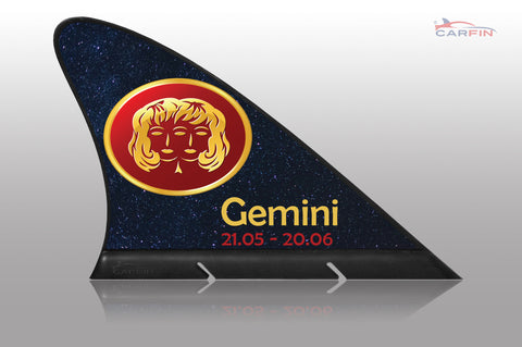 Gemini  Car Flag CARFIN , Magnetic Car signs. - Carfin