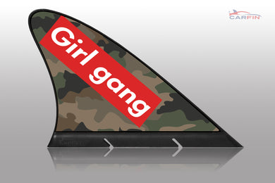 Girl Gang Car Flag CARFIN , Magnetic Car signs. - Carfin