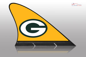 Green Bay Packers Car Flag, CARFIN  Magnetic Car Flag.